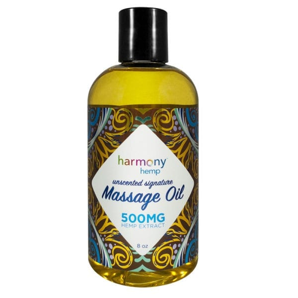 Harmony Hemp Signature Massage Oil – 500mg