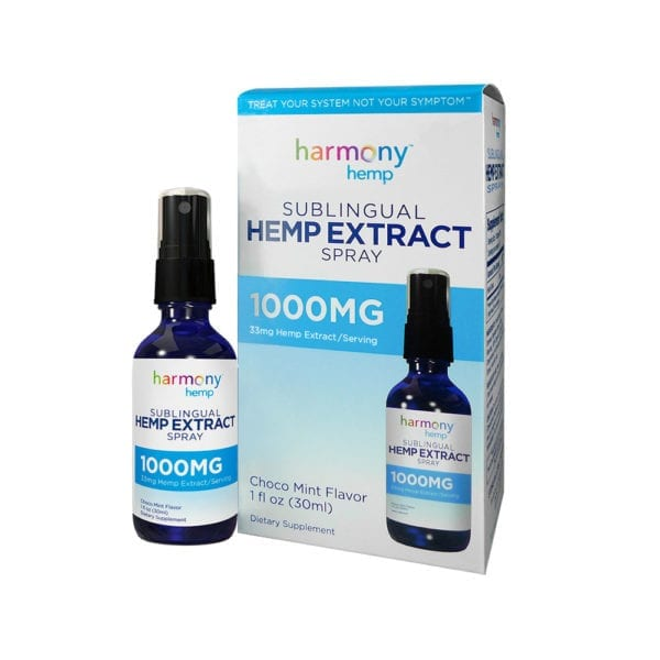Harmony Hemp Sublingual Hemp Extract Spray – 1000mg