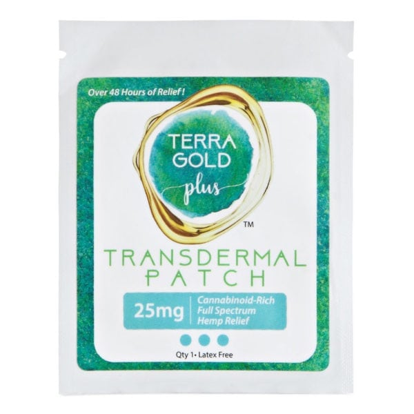 Terra Gold Plus Transdermal Hemp Relief Patch – 25mg