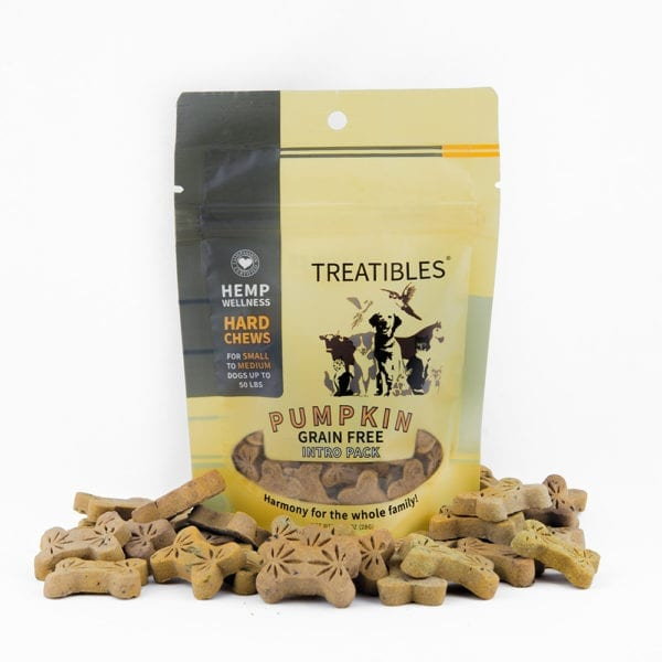 Treatibles® Small Pumpkin Grain Free Hard Chews Introductory Pack