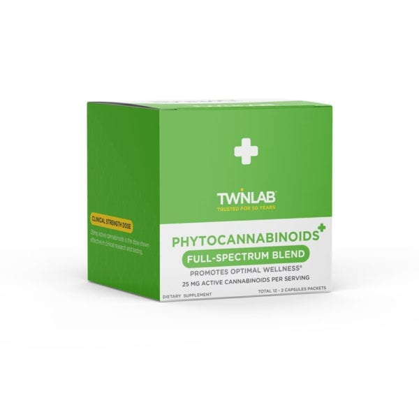 Twinlab Phytocannabinoid Capsules 25mg To-Go-Packs Box
