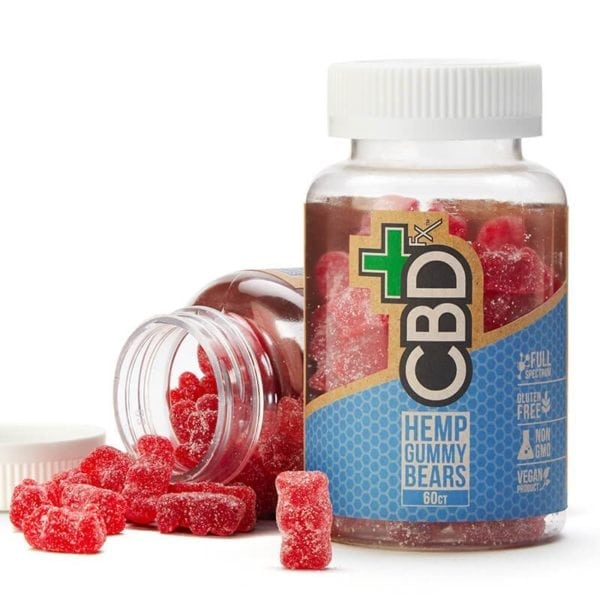 CBDfx Hemp Gummy Bears – 60ct Bottle