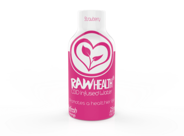 RAW Health CBD Infused Water – Refresh for Energy – Strawberry